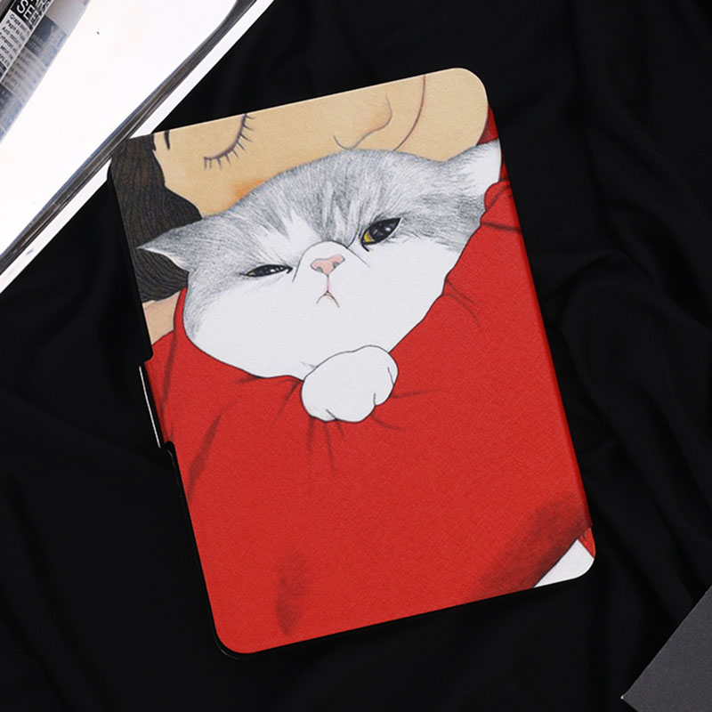 Case for Kindle Paperwhite Fashion lazy Cat Series Smart Auto Sleep/Wake PU Leather Cover for Amazon Kindle Paper white 1 2 3