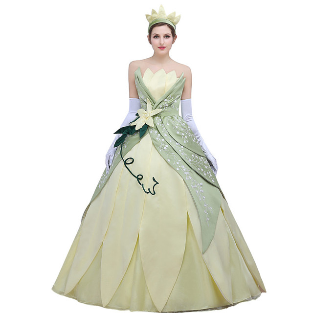 Princess Tiana Dress: Custome Made Anime The Princess And The Frog Dress Cosplay