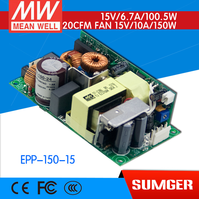 [CB]MEAN WELL original EPP-150-15 10Pcs 15V 6.7A meanwell EPP-150 15V 100.5W Single Output with PFC Function [mean well1] original epp 150 15 15v 6 7a meanwell epp 150 15v 100 5w single output with pfc function