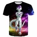 Colorful Space Galaxy t-shirt Men Women Anime t shirts Dragon Ball Z Frieza 3D t shirt Swag Harajuku Tee Shirt Tees