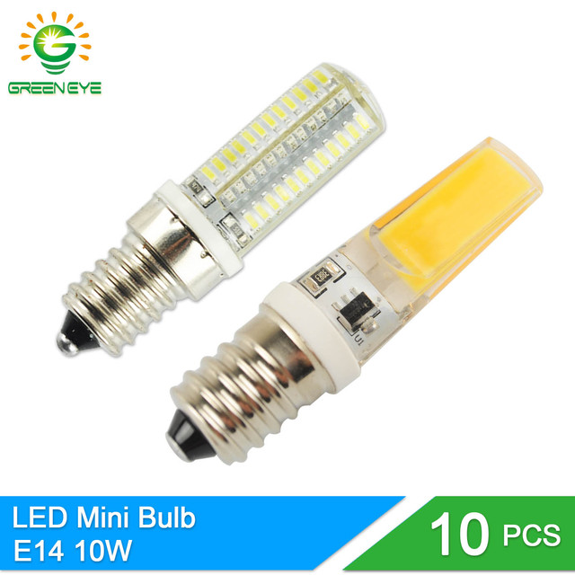 Greeneye 10pcs High Bright E14 Mini Led Lamp 220v Bulb 10w Light Replace Halogen Candle Chandelier Lampada Ampoule Lampara