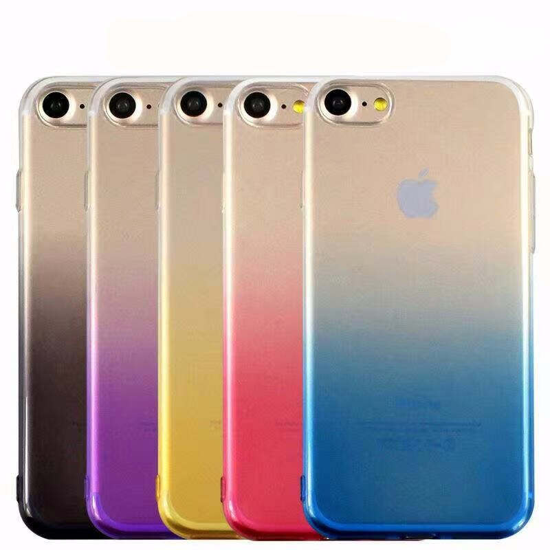 Colorful Phone Case For Iphone 6 6s 7 8 Plus X Xr Xs Max Ultra Thin Soft TPU Back Cases For Iphone 5s 5 SE Cover Conque