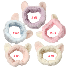 Headbands Mini Cat Ear Soft Towel
