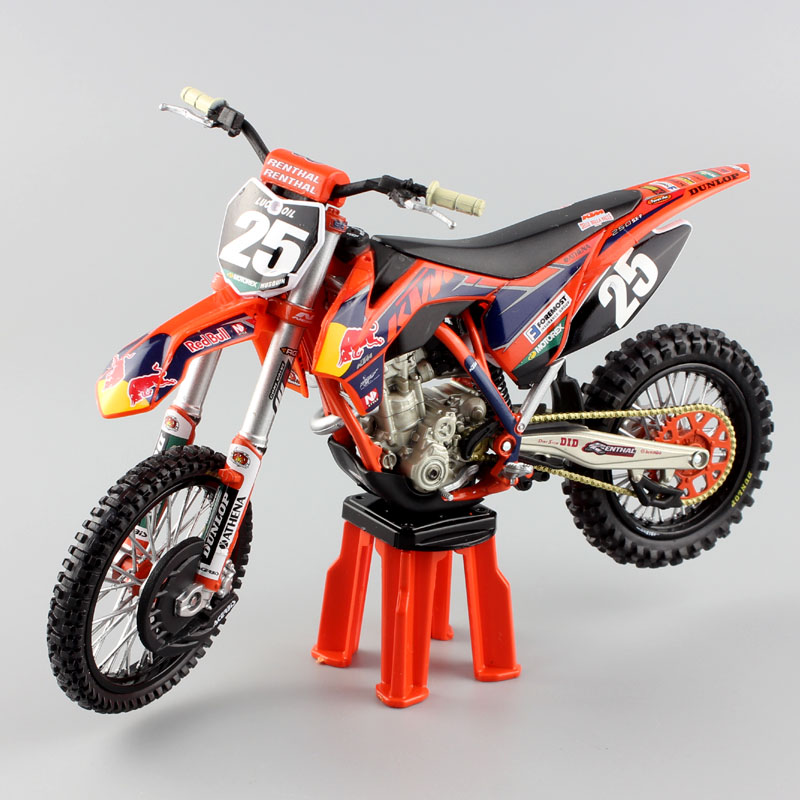 1 12 scale ktm 250sx f red bull racer motorcycle. Black Bedroom Furniture Sets. Home Design Ideas