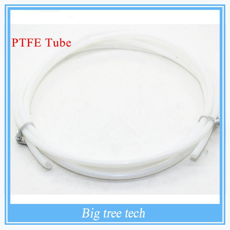 Prix pour 50 pcs 1 M 2 * 4 mm PTFE Tube Teflon tuyau pour J - tête hotend RepRap Rostock Bowden Extruderfor 1.75 mm