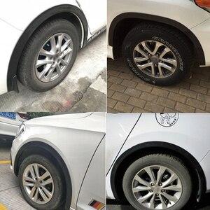 Image 5 - 4 adet 4.9ft siyah evrensel araba çamurluk genişletici tekerlek kaş şekillendirici aksesuarları kalıplama koruyucu dudak Anti Scratch Arch Trim