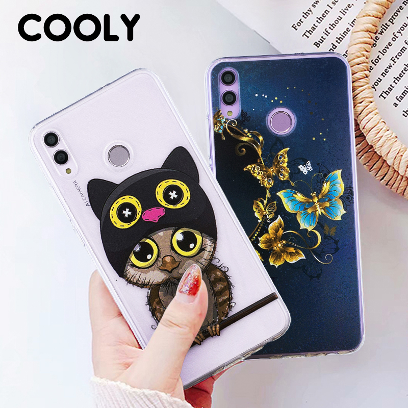 COOLY Cartoon Case For Honor 8X Cases For Huawei P Smart 2019 Cover Honor 10 Lite