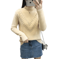 2019 Sale Hot Sale Cotton Turtleneck Sweater Women Warm And Fuzzy Sweater Thickened High necked Pullover Bottom Coat For Women