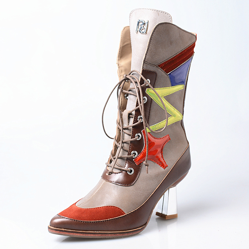 Botas Botines Color Remache Zapatos Mediados Tacones Inside leather Inside  Becerro Altos Mujer Inside Martin Con De plush 2018 ... b3c4209b0f40