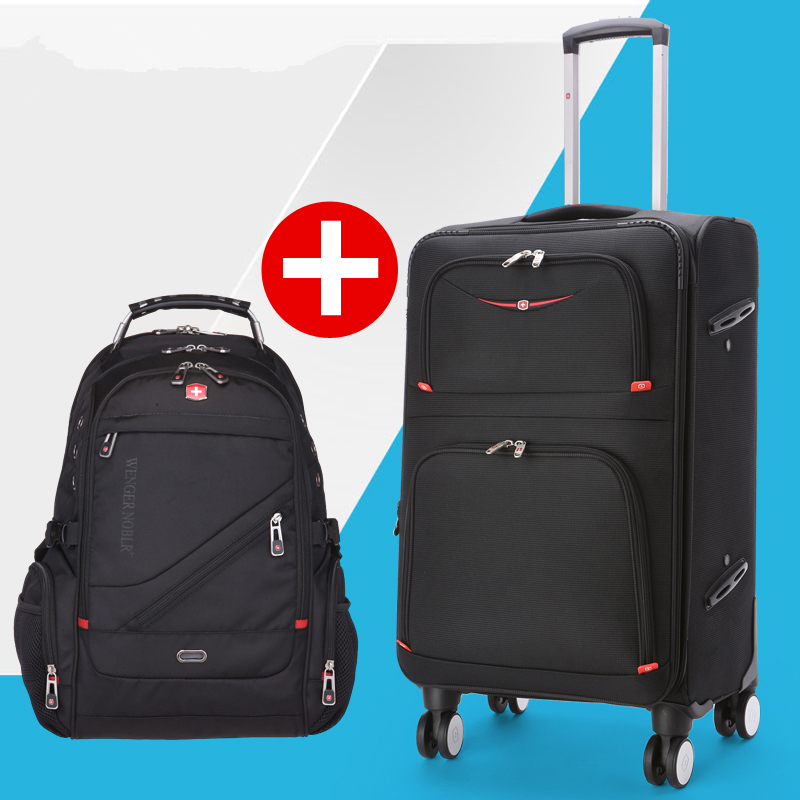 Swiss army knife universal wheels trolley luggage backpack travel bag18 22 20 24 26 28luggage oxford fabric luggage sets