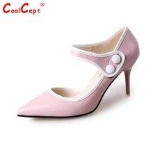 ผู้หญิงบางปั๊มส้นสูงผู้หญิงเซ็กซี่พรรคเท้าแหลมรองเท้าแบรนด์หัวเข็มขัดส้นรองเท้าส้นรองเท้าขนาด34-39 Z00165