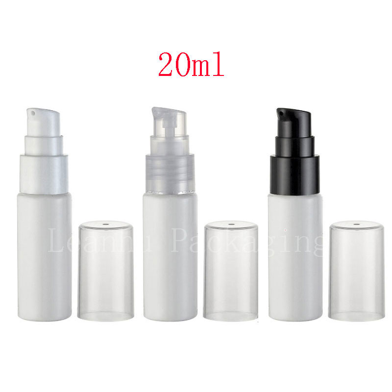 20ml White Empty Cosmetic Container With Lotion Cream Pump 20g Skin Care Cream Treatment Bottles Travel