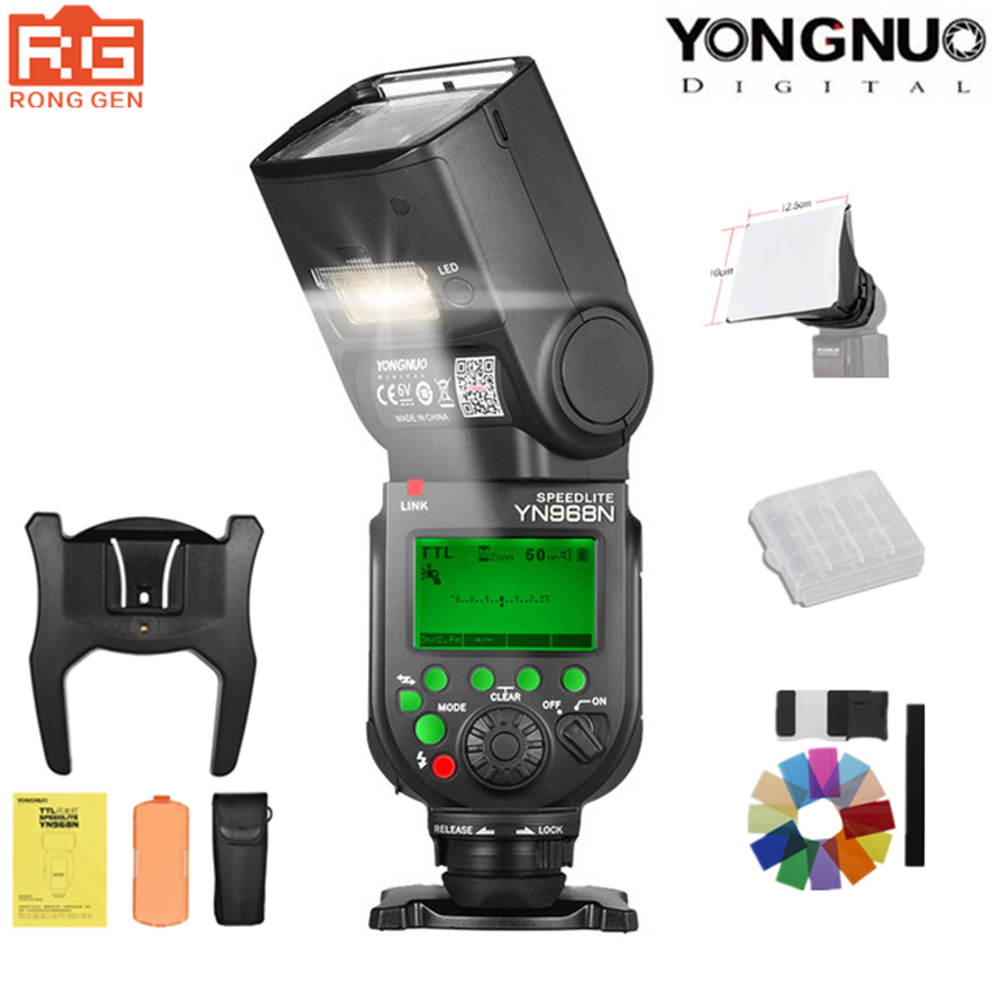 YONGNUO YN968N 2.4G Wireless High-speed Sync TTL 1/8000s Flash Speedlite Auto zoom for Nikon DSLR Camera Compatible YN622N YN560YONGNUO YN968N 2.4G Wireless High-speed Sync TTL 1/8000s Flash Speedlite Auto zoom for Nikon DSLR Camera Compatible YN622N YN560