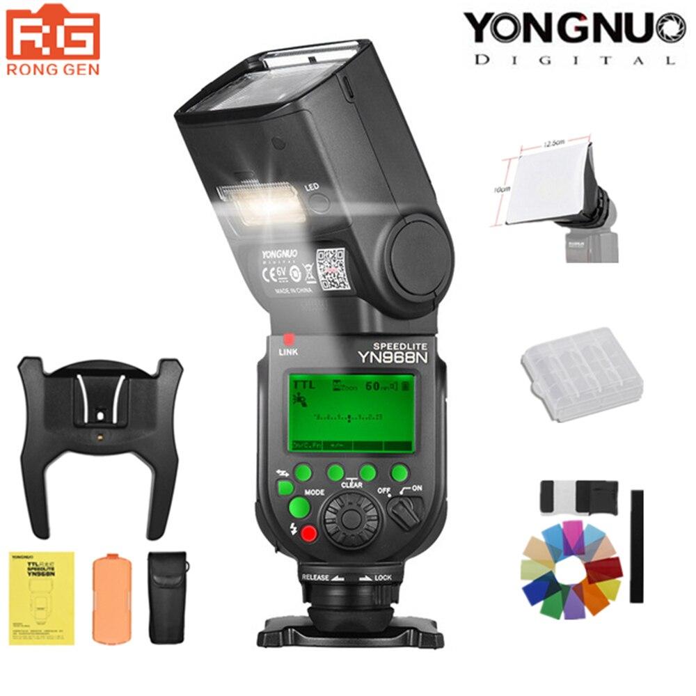 YONGNUO YN968N 2.4G Wireless High-speed Sync TTL 1/8000s <font><b>Flash</b></font> Speedlite Auto zoom for Nikon DSLR Camera Compatible YN622N YN560