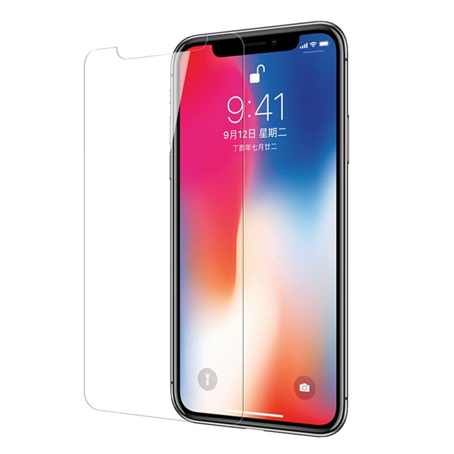 Image 2 - 3PCS Tempered glass for iphone 8 plus screen protector for iPhone 7 plus glass film for iPhone X XR XS MAX 6 6s 5 5S 5C SE 4 4S-in Phone Screen Protectors from Cellphones & Telecommunications