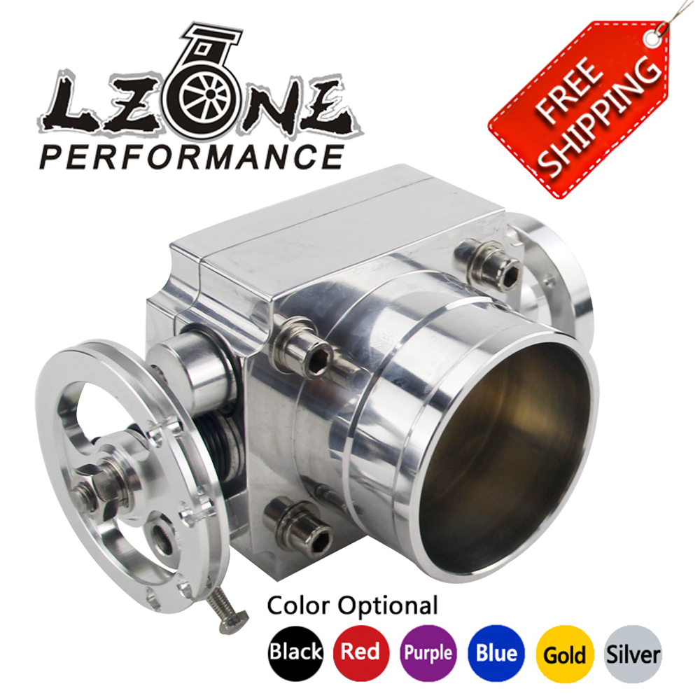 LZONE RACING - FREE SHIPPING NEW THROTTLE BODY 80MM THROTTLE BODY PERFORMANCE INTAKE MANIFOLD BILLET ALUMINUM HIGH FLOW JR6980 pqy racing free shipping new 90mm throttle body performance intake manifold billet aluminum high flow pqy6990