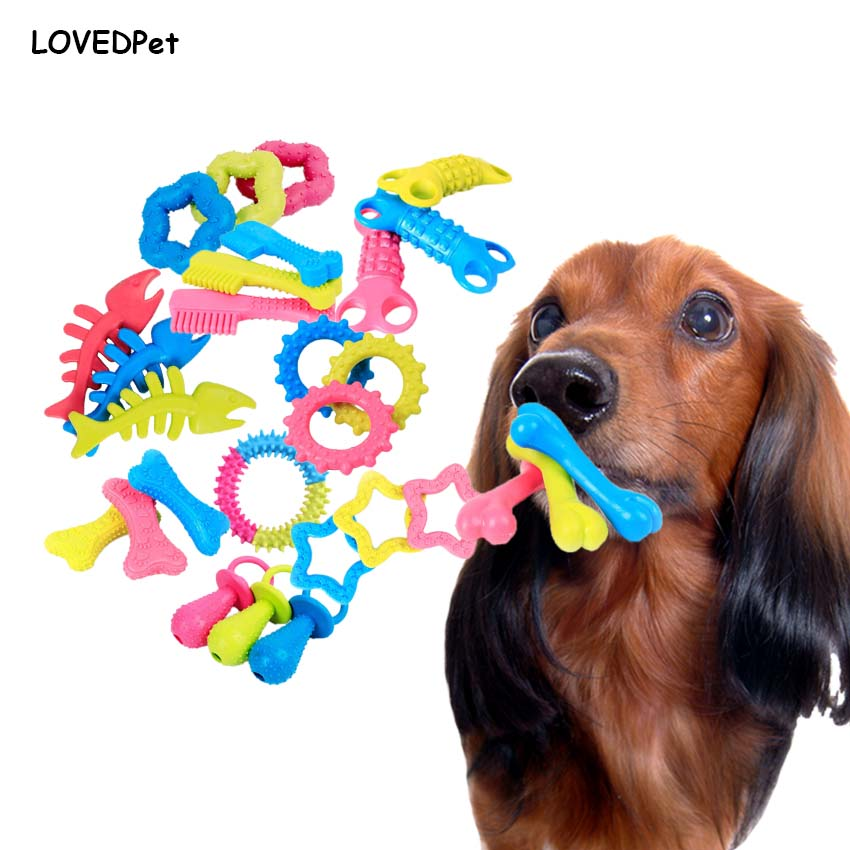 Pet Dog Toys Safe Non toxic TPR Rubber Puppy Chew Dogs To