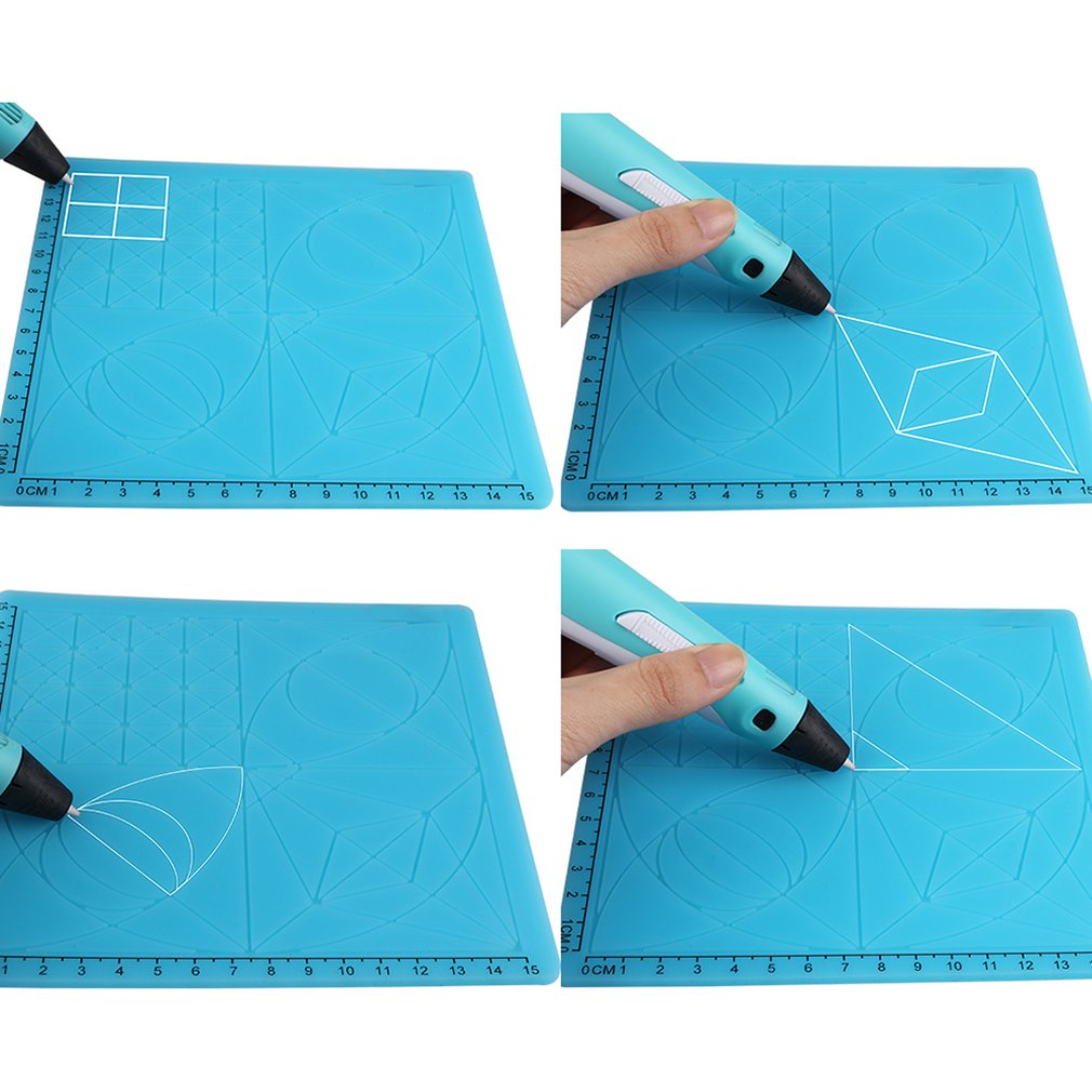 Mat Pen-Accessories Drawing-Board 3d-Printing Silicone Kids Puzzle Educational with 2-Finger-Caps