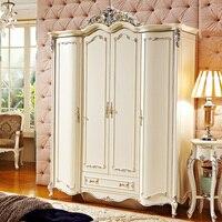 Высокое качество Европейский 4 Дверные рамы шкаф для Спальня комплект prf076