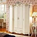 High Quality  European 4 Doors Wardrobe  For Bedroom Set PRF076