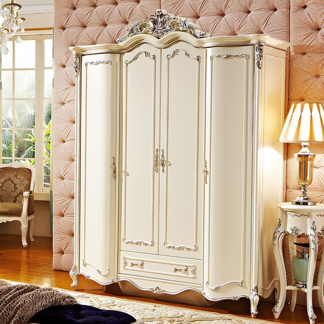 High Quality European 4 Doors Wardrobe For Bedroom Set PRF076 & High Quality European 4 Doors Wardrobe For Bedroom Set PRF076 on ...