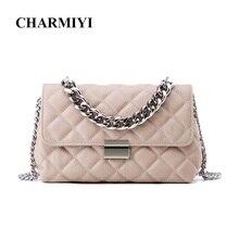 CHARMIYI известный бренд 2018 натуральная кожа женская сумка-мессенджер модная цепочка женская маленькая сумка через плечо Bolsas Feminina