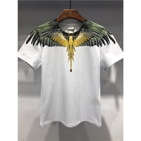 Special quality Marcelo Burlon Slim T Shirts for Men 1:1 Print MB T shirt Hip Hop Feather wing clothes male Camisetas Hombre Tee