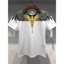Special quality Marcelo Burlon Slim T Shirts for Men 1:1 Print MB T-shirt Hip Hop Feather wing clothes male Camisetas Hombre Tee