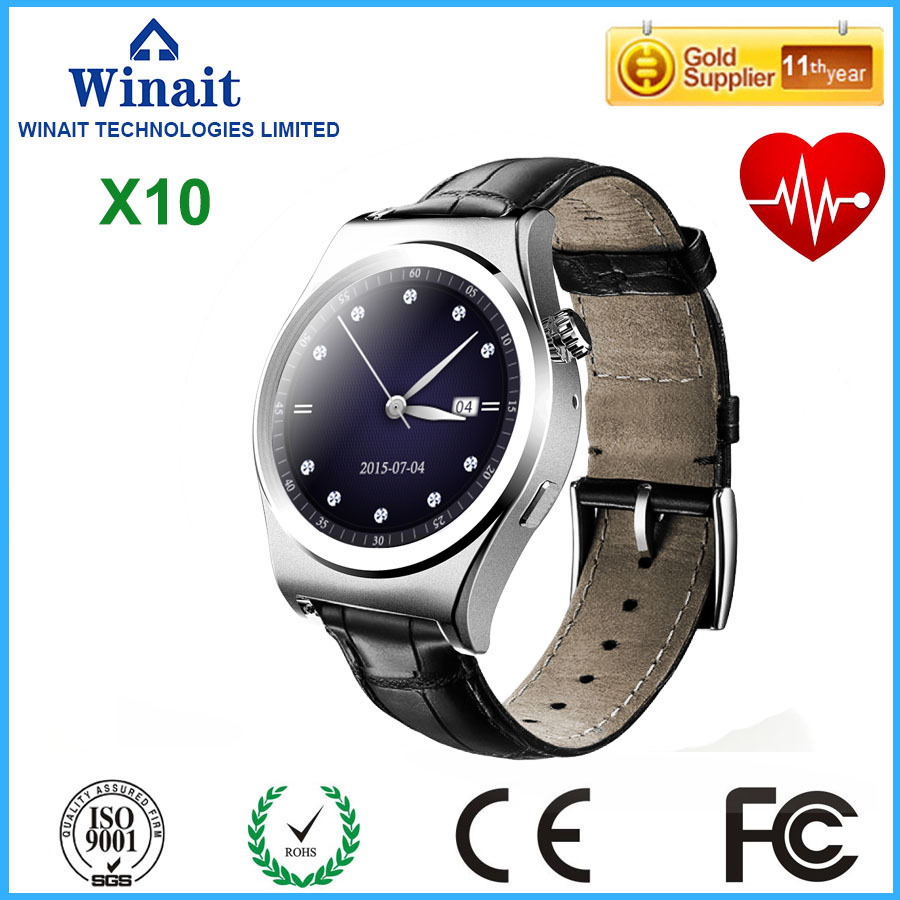 ФОТО Smart watch X10 Full circle Bluetooth Android Heart rate monitor Real time temperature Intelligent step Altitude instrument