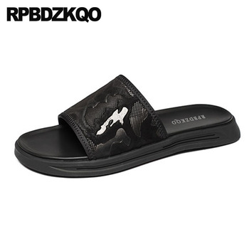 Beach Japanese Fashion Slides Black Casual Flat Slippers Sport Mesh Men Mens Sandals 2018 Summer Outdoor Sneakers Shoes Slip On