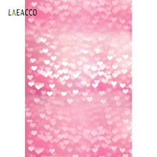 Laeacco Pink Love Heart Bokeh Baby Newborn Children Photography Backgrounds Customized Photographic Backdrops For Photo Studio