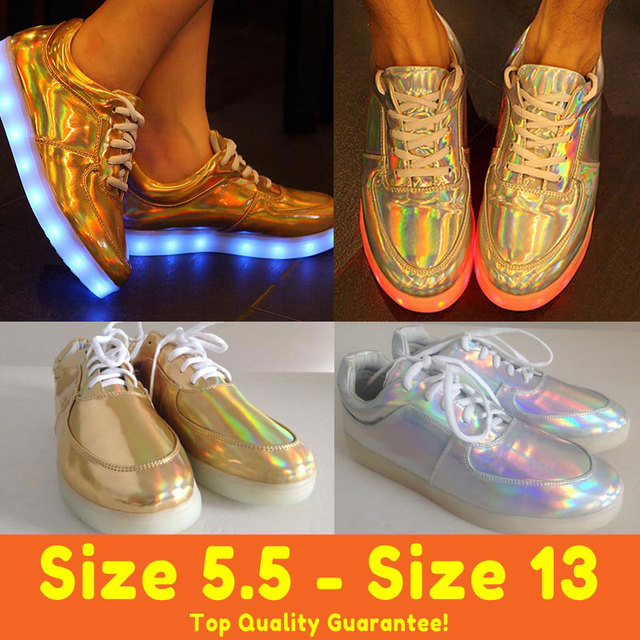 ae07bfb1c2d Top New Hologram LED shoes Light Up For Adults Women Men Glow One Night Air  Sale