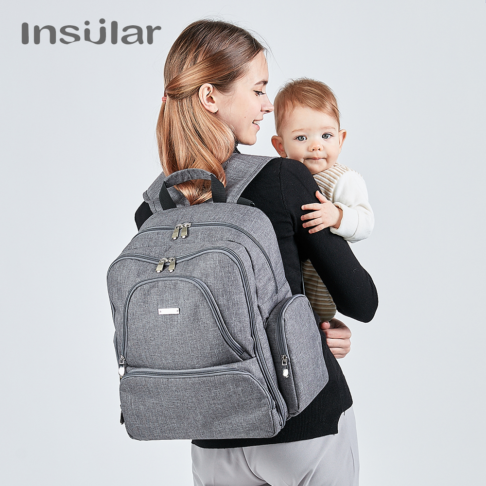 Insular Brand diaper bag Insulated mummy maternity Travel backpack nappy bags dot style multifunctional baby stroller bags
