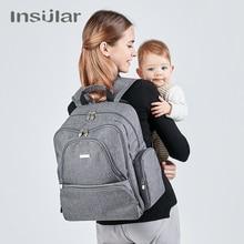Insular Brand Wickeltasche Isolierte Mama Mutterschaft Reiserucksack Wickeltaschen dot Stil multifunktionale Kinderwagen Taschen