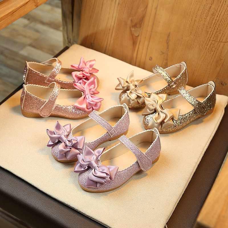 รองเท้าบัลเล่ต์รองเท้าเด็กรองเท้า Bling - bling เจ้าหญิงรองเท้าสำหรับสาวรองเท้าเด็ก