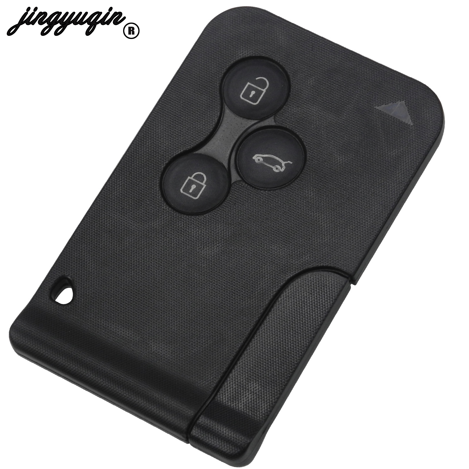 jingyuqin 3 Buttons Remote Fob Car Key Case Shell Replace Cover For Renault Clio Megane Grand Scenic 2 3 Koleos with small key(China)
