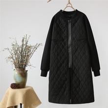 2019 New Autumn Winter Women's Parka Coat Warm Jacket Women Thin Cotton Quilted Coat Plus Size Stand Collar Black Parkas A1561 цена 2017