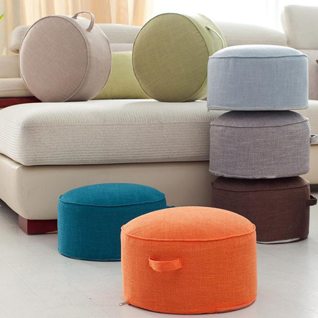 Fashionable House Decor Pillow Round Chair Linen Strength Sponge Tatami Cushion Meditation Yoga Mat Seat