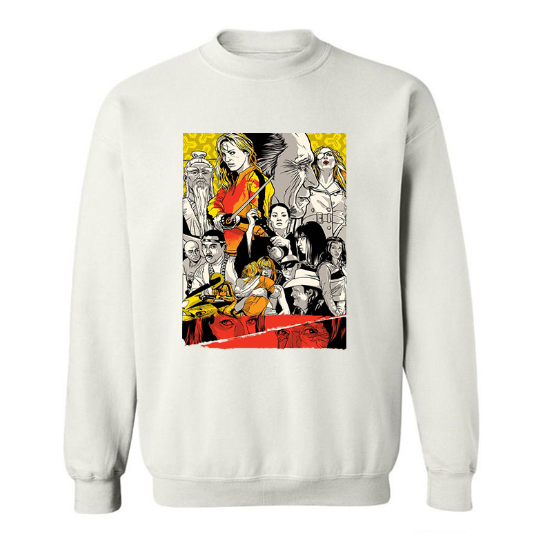 2017 New Arrive Funny Kill Bill Quentin Tarantino ART funny Hoodies Sweatshirts for men