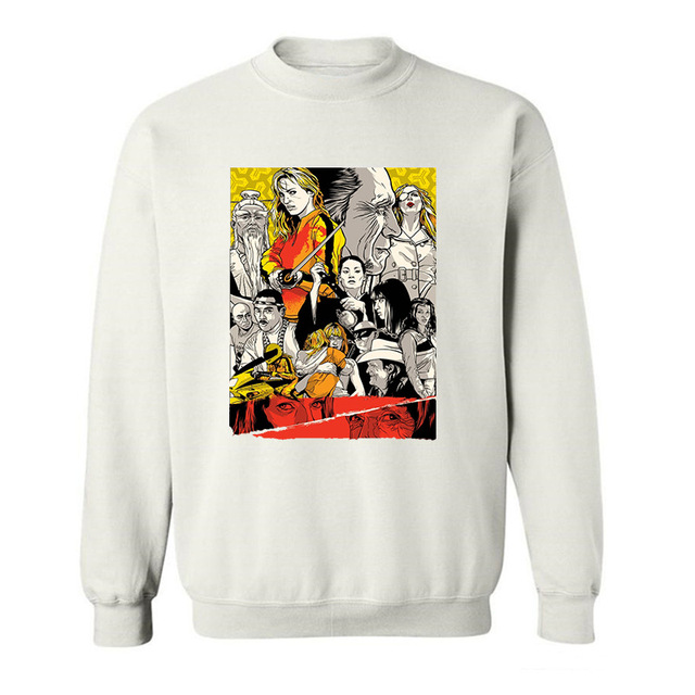 2017 New Arrive Funny Kill Bill Quentin Tarantino ART funny Hoodies Sweatshirts for men