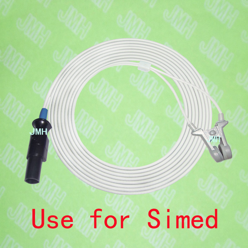 Compatible with Simed S100,S50, S100E Oximeter monitor , Child and Adult ear clip spo2 sensor.7pin,3m.Compatible with Simed S100,S50, S100E Oximeter monitor , Child and Adult ear clip spo2 sensor.7pin,3m.
