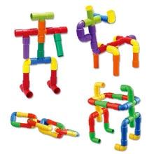 Csővezeték alagút blokkok DIY Kreatív téglák Játékok Gyerekek Oktató játékok Csőblokkok Oktató játékok Gyermek Ajándékcsalád társasjáték