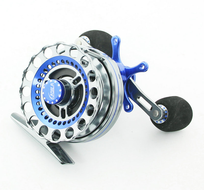 ФОТО HIGREE Double Colored Raft Reel Aluminum Alloy Fishing Reel 4+1BB Raft Fishing Reel