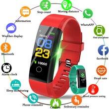 LIGE 2019 New Smart Bracelet Fashion Sport Watch Ladies Heart Rate Blood Pressure Fitness IP67 Waterproof Men USB