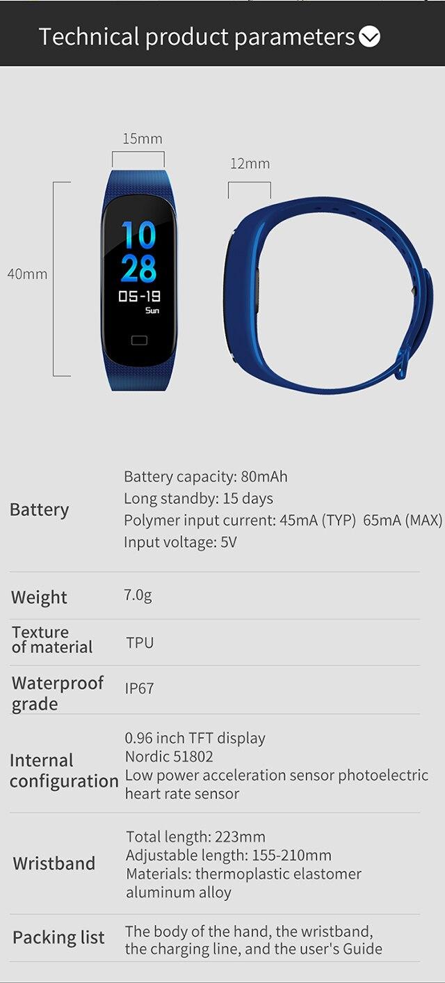 Inteligente Pulseira Smartwatch À Prova D' Água