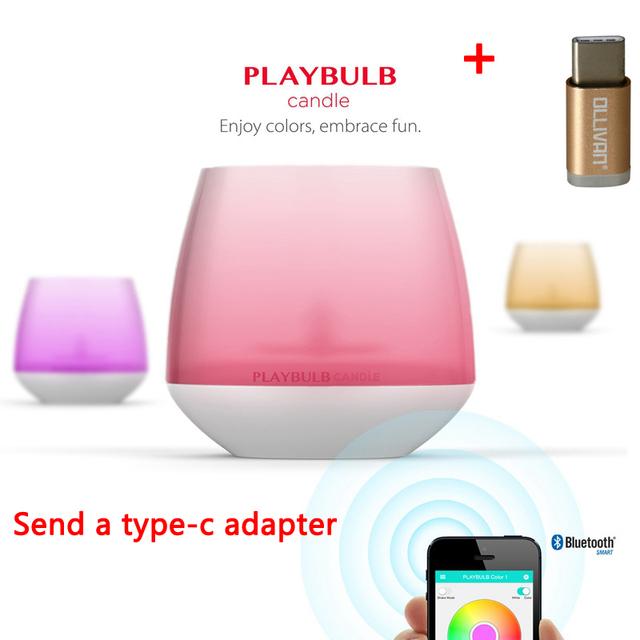 MIPOW Playbulb Bluetooth Inteligente LEVOU Luz de Velas Em Casa Aromaterapia Nightlight Mutável Cores Com Controle de APLICATIVO Sem Fio