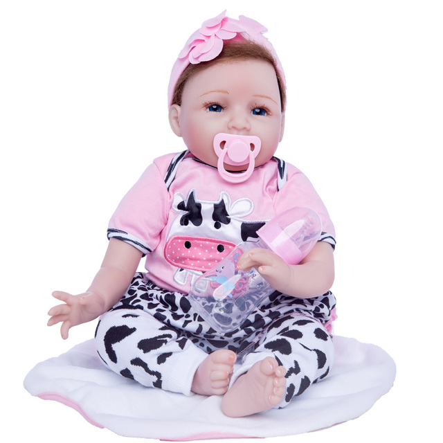 2c124ec8787 Princess Anna 22in 55cm Lovely doll bebe reborn silicone reborn baby dolls  lifelike toys birthday gift