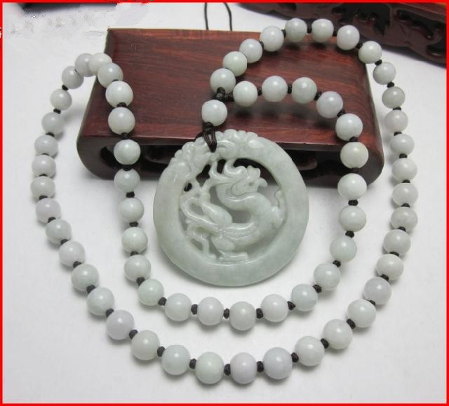 Authentic natural Burma Shi Shengxiao dragon pendant necklace gift jadeware men and women jewelry