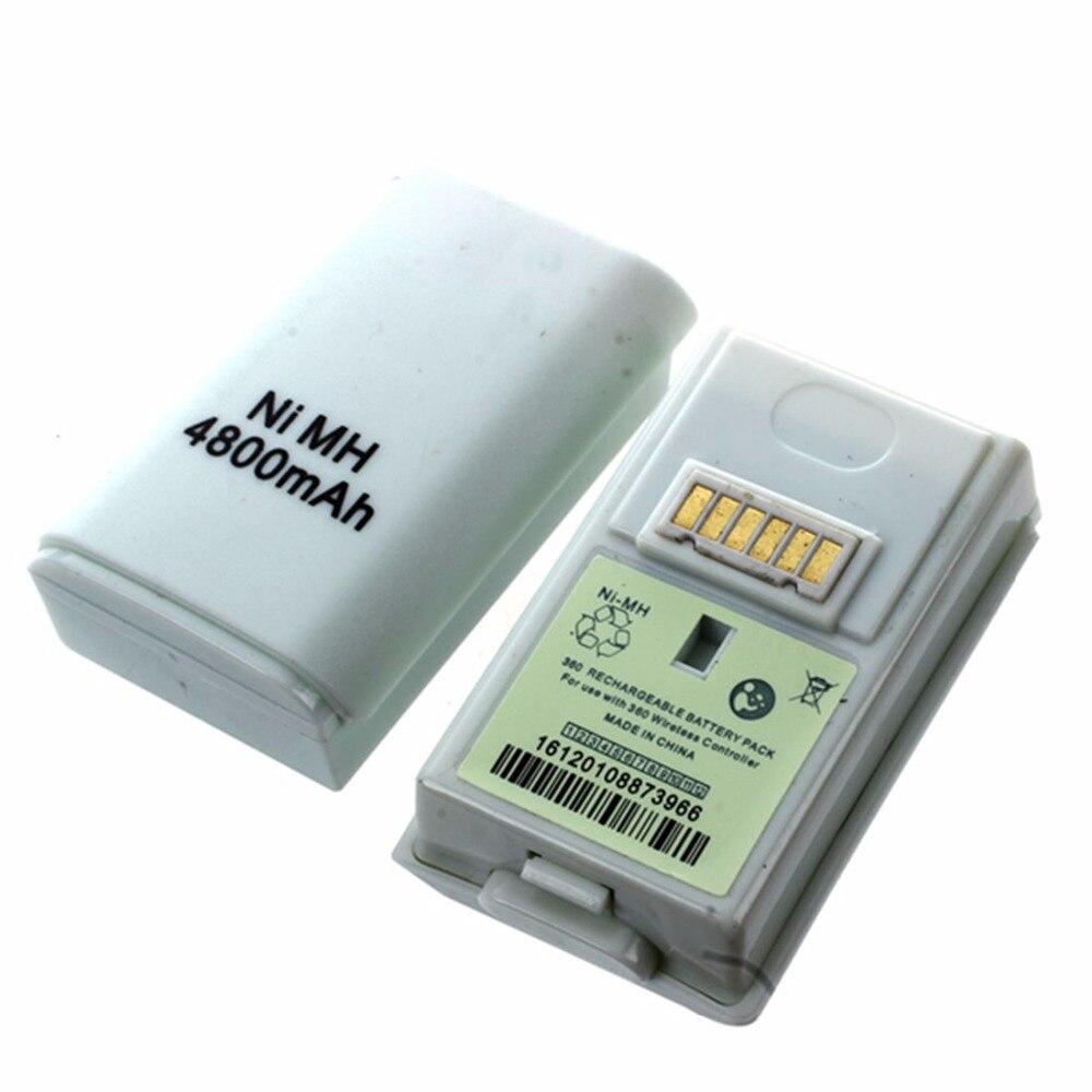 2 pièces 4800 mah batterie rechargeable pour contrôleur sans fil Microsoft XBOX 360