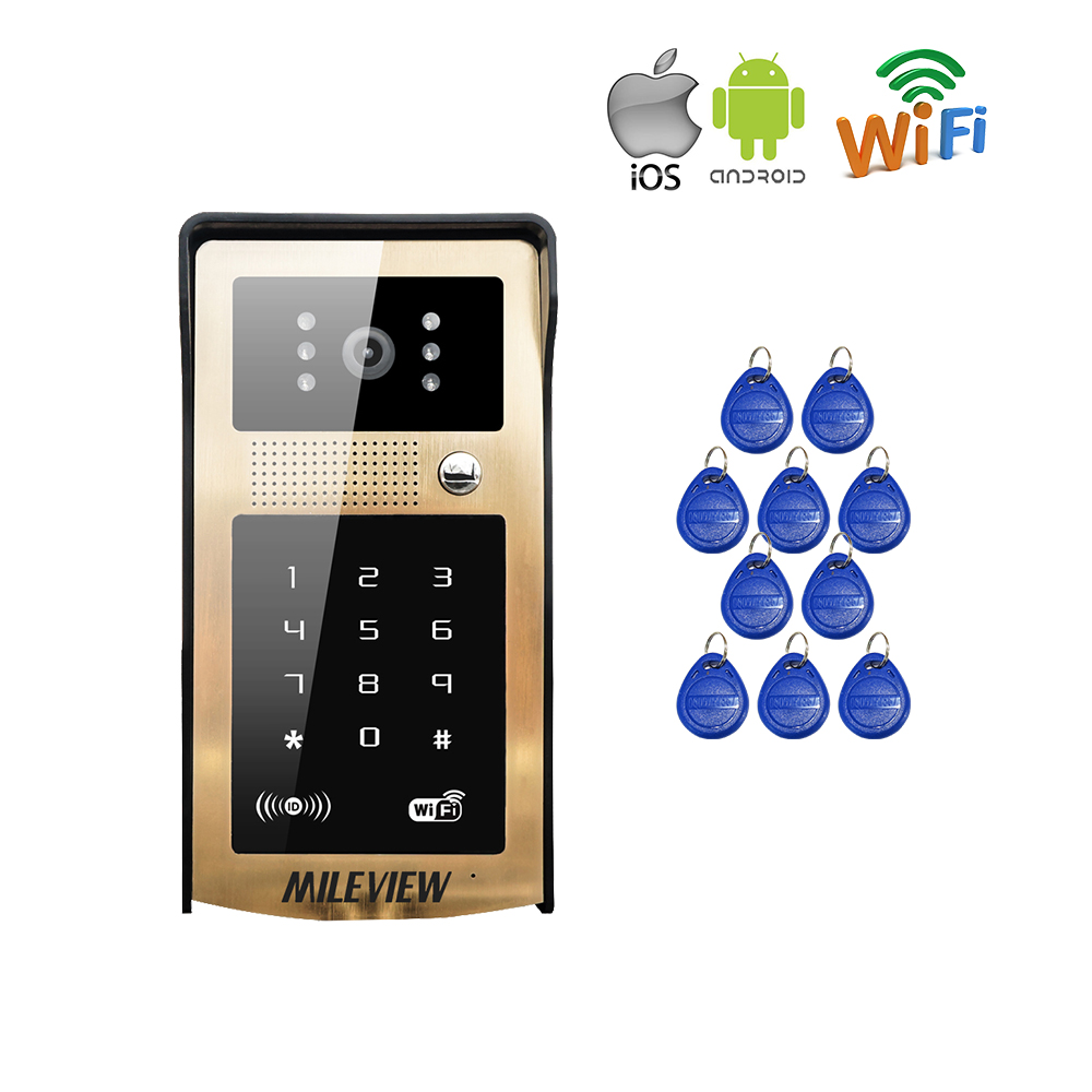 Touch New RFID / Code / Keypad Wireless Wifi Video Door Phone Waterproof Doorbell Intercom for Android IOS Phone Free Shipping детская игрушка new wifi ios